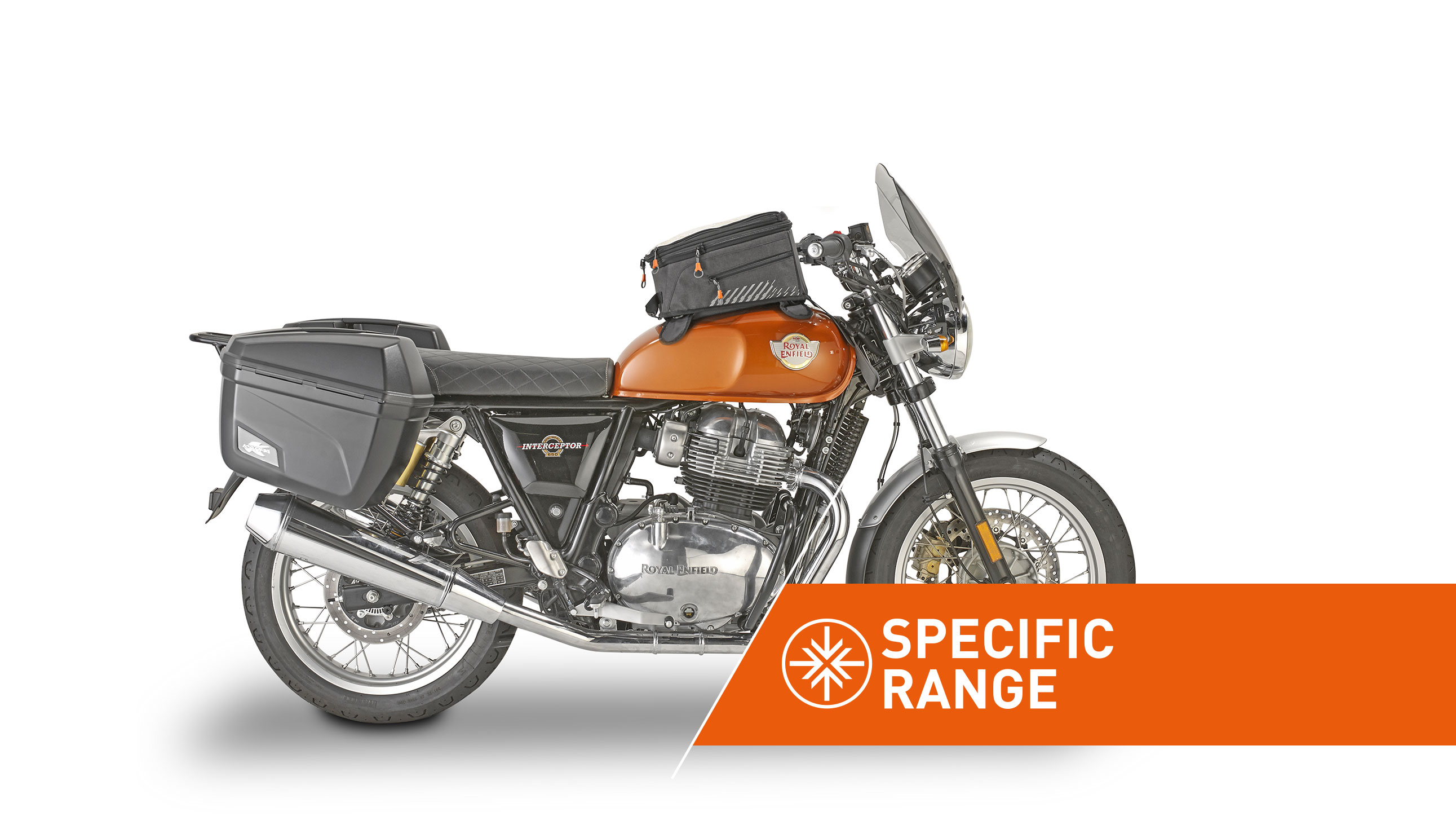 Specific range accessories for ROYAL ENFIELD INTERCEPTOR 650 by KAPPA MOTO